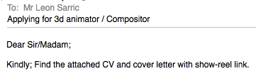Don't attach a covering letter if you're applying for a #tvjob